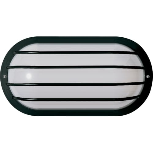"Nuvo Lighting 77/857 Single Light 10"" Oval Cage Wall Fixture with Polysynthetic Body and Lens"