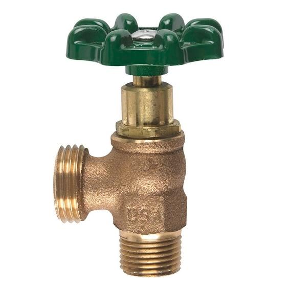 Arrowhead 221LF MPT Brass Boiler Drain, 1/2 Dia.
