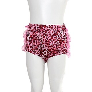 Laura Dare Pink Bloomers Size 3M Black Animal Print Ruffle Baby Girl