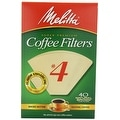 Melitta 624412 Cone Coffee Filters, 40 Count, Natural Brown - Thumbnail 0