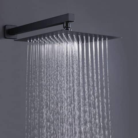 Matte Black Rain Shower Heads Set