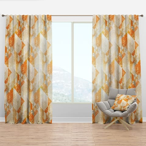 Designart 'Gold Retro Style' Modern Curtain Panel