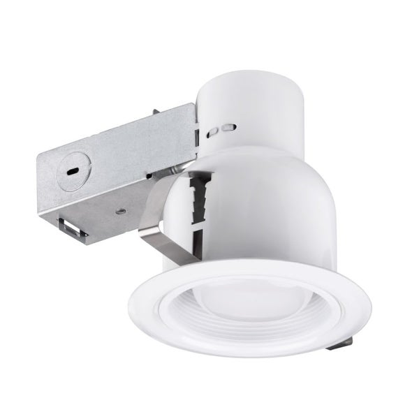 Globe Electric 90670 1 Light Recessed Lighting Kit Includes Trim, Housing / Can, Patented Clip System and Electrical Box - White