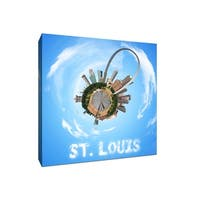 St. Louis - City Planets - 12x12 Gallery Wrapped Canvas Wall Art