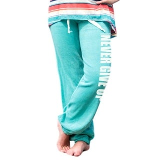 Cowgirl Tuff Western Pants Womens Lounge Drawstring Turquoise S00835 - L