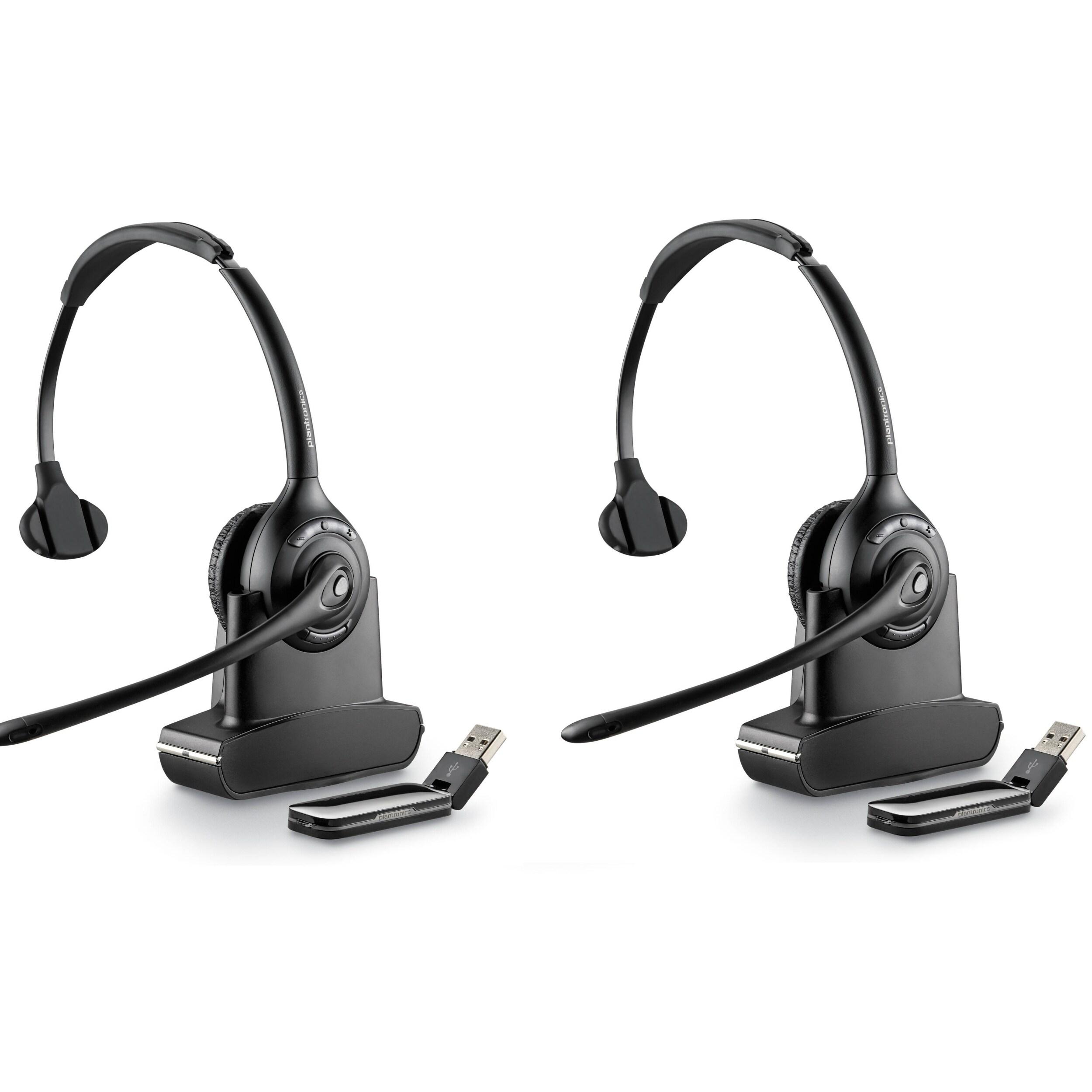 Shop Plantronics Savi W410 2 Pack Mono Wireless Headset Overstock 24258781