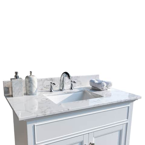 Bathroom Stone Vanity Top with Rectangle Undermount Ceramic Sink