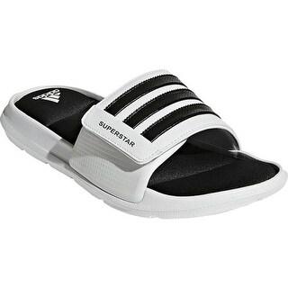 adidas Men's Superstar 5G Slide Sandal White/Black/White