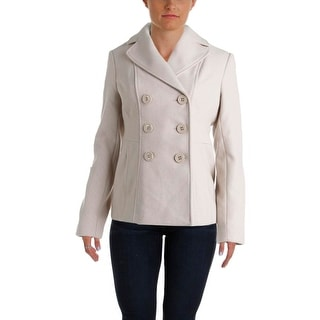 Kenneth Cole New York Womens Wool Double Breasted Pea Coat - 4