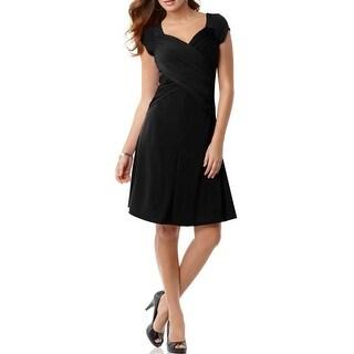 B-Slim Womens Wear to Work Dress Matte Jersey Short Sleeves