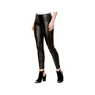 Kensie Womens Leggings Faux Leather Flat Front