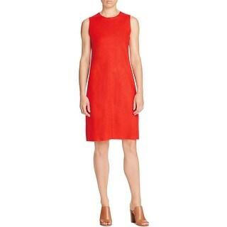 Eileen Fisher Womens Petites Casual Dress Wool Sleeveless