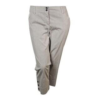 Charter Club Women's Cropped Straight-leg Striped Pants