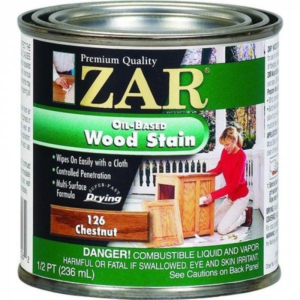 ZAR 12606 Interior Oil-Based Wood Stain, Chestnut, 1/2 Pint