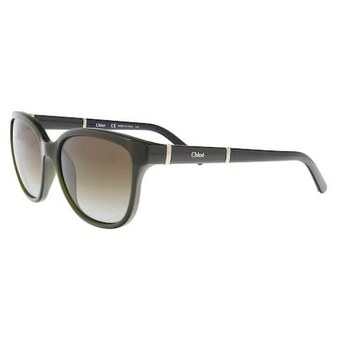 641c7f532b46 Chloe CE664S 303 Khaki Cat Eye Sunglasses - 54-16-135