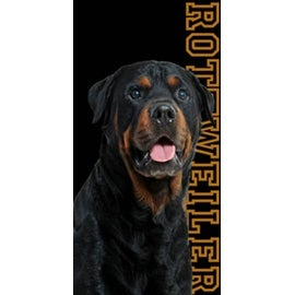 Beach Towel 30X60 Rottweiler Dog Man's Best Friend