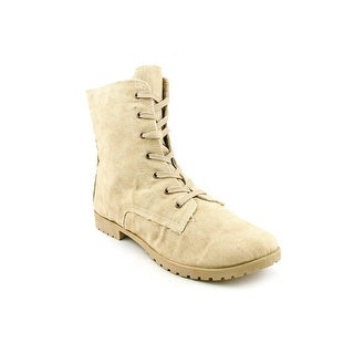 Dirty Laundry Primary Women Round Toe Canvas Nude Ankle Boot