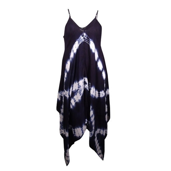 3938262646 Shop Raviya Women s Plus Size Tie-Dye Handkerchief Maxi Dress Cover-Up - On  Sale - Free Shipping On Orders Over  45 - Overstock - 21180635