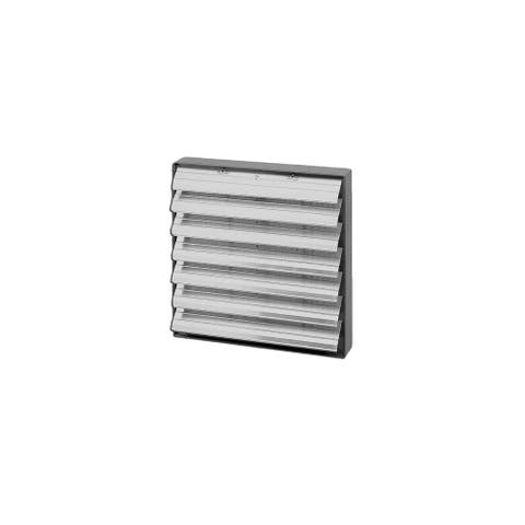 Soler and Palau PER-400CN 16in Aluminum Louver Shutter - Off White Aluminum Shutter And Steel Frame