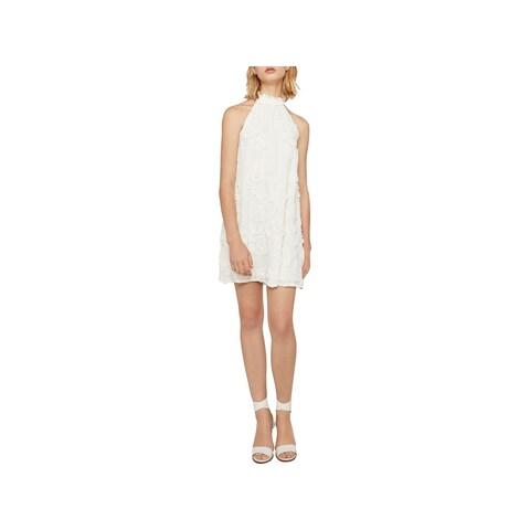 BCBGeneration Womens Cocktail Dress Metallic Halter - XL