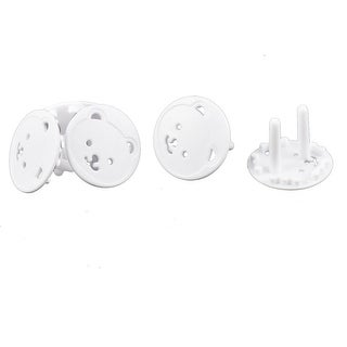 Cartoon Bear Design Electric Socket Outlet Plug Safety Lock Cover White 4 Pcs