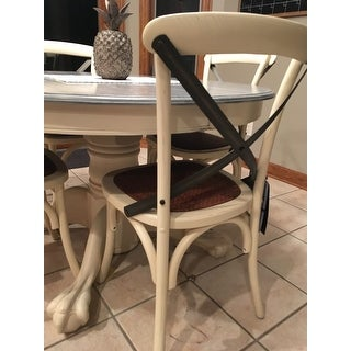 Safavieh Dining Country Eleanor Antique White X-Back Dining Chairs (Set of 2)