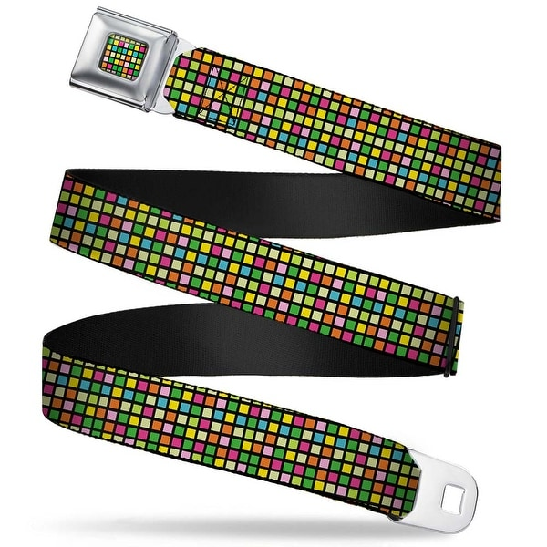 Rz Mini Checkers Full Color Black Multi Color Rz Mini Checkers Black Multi Seatbelt Belt