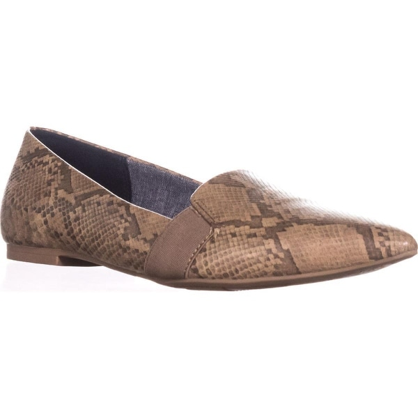 Dr. Scholls Sincerity Pointed Toe Loafer Flats, Stucco Snake - 7 us / 37 eu