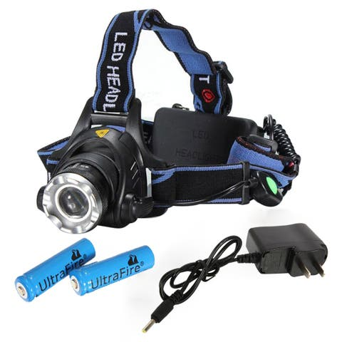 1800lm Middle Switch White Light Stretchable Headlamp Suit