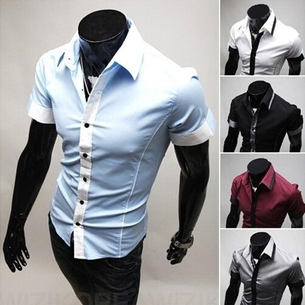 146da98accb2 Babyface Mens Shirts Arrival Casual Short Sleeve Shirts Urban Fashion Slim  Fit Mens Tops 5 Colors
