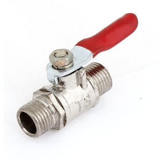 Full Port Pipe Fitting 1/4 Male Thread OD Hose Lever Handle Ball Valve