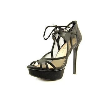 Jessica Simpson Carmita Open Toe Synthetic Platform Heel
