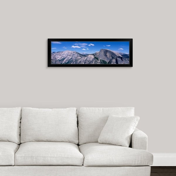 """""""View fr North Dome Half Dome Clouds Rest Yosemite National Park CA"""" Black Framed Print"""