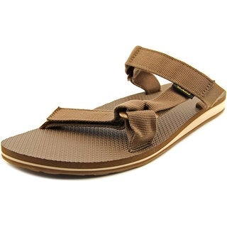 Teva Universal Slide Men Open Toe Canvas Brown Slides Sandal