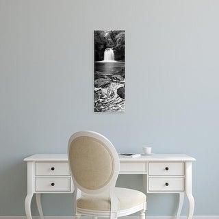 Easy Art Prints Panoramic Image 'Waterfall, Thomason Foss, Goathland, Yorkshire, England, United Kingdom' Canvas Art