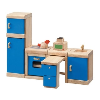 Plantoys Dollhouse Furniture Kitchen Set, 6 Pieces
