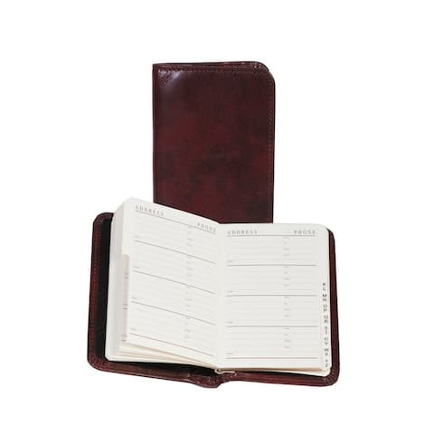 Scully Western Address Book Leather Personal 3 x 4.75 - Mahogany - 3 x 4.75
