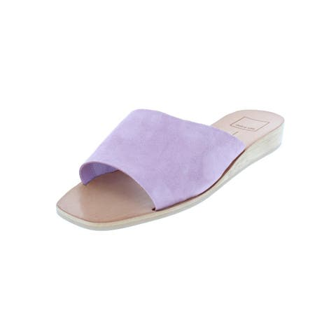 Dolce Vita Womens Hildy Slide Sandals Solid Demi Wedge