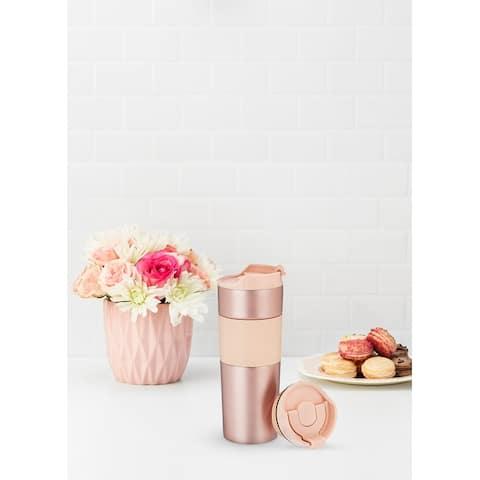 """Peyton Rose Travel Tea Press Tumbler by Pinky Up - 8.66"""" x 3"""""""