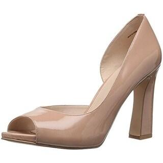 Pelle Moda Womens Nolan Dress Pumps Patent Leather Open Toe - 7 medium (b,m)