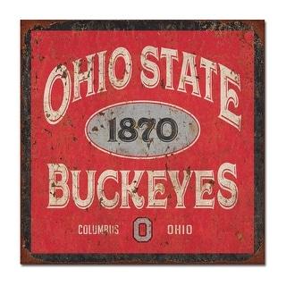 Ohio State University Five & Dime Large Tin Sign