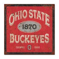Ohio State University Five & Dime Large Tin Sign
