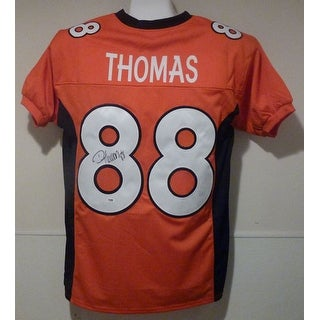 Demaryius Thomas Autographed Denver Broncos size XL orange jersey PSADNA
