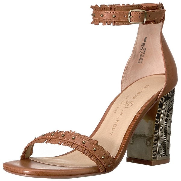 Chinese Laundry Womens Santa Anita Leather Open Toe Special Occasion Ankle St...