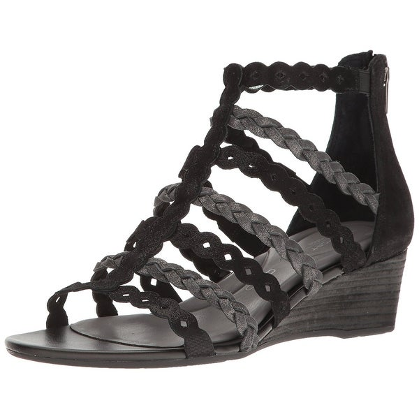 Rockport Womens Total Motion Leather Open Toe Casual Platform Sandals