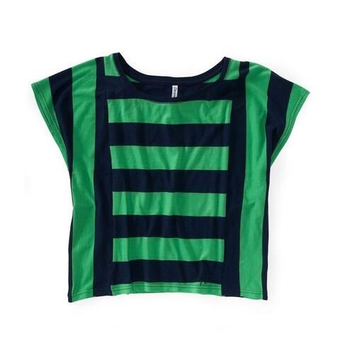 Aeropostale Womens Horizontal Vert Stripe Graphic T-Shirt