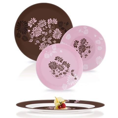 Luminarc Simply Tamako Pink 19 Piece. Dinnerware Set for 6