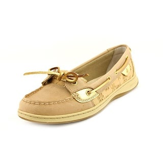 Sperry Top Sider Angelfish Women Round Toe Leather Tan Loafer