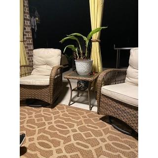 Wicker 3-piece Swivel Conversation Set by Havenside Home