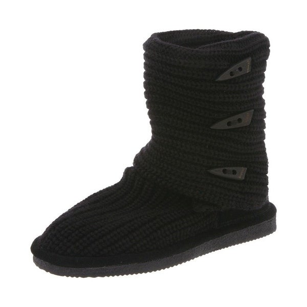 Bearpaw Boots Womens Knit Tall Comfortable Toggle